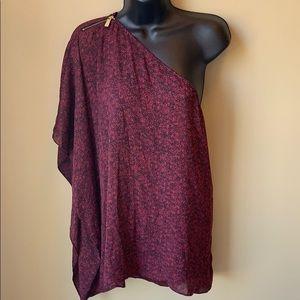 Michael Kors one shoulder blouse size L XL